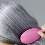 Модное окрашивание волос с сединой