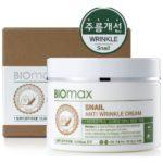 Biomax крем с экстрактом слизи улитки против морщин 100 мл