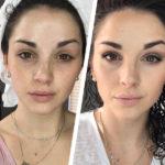 Тональный крем фото до и после