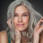 Прически седые волосы фото женщины