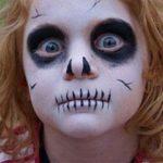 Простой аквагрим на хэллоуин для детей фото