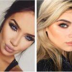 Новогодний макияж для голубых глаз фото