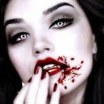 Вампир с черными волосами