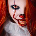 Мейкап на хэллоуин клоун