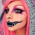 Фиолетовый макияж на хэллоуин