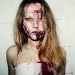 Прическа зомби на хэллоуин