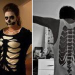 Костюм скелета на хэллоуин для девушки