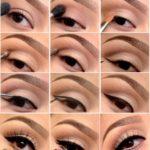 Яркий макияж для карих глаз пошагово