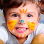 Рисунки на лице бабочка для девочки