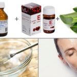 Витамин е и глицерин для кожи лица