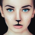 Аквагрим для детей кошка на лице