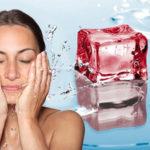 Умывание холодной водой от морщин