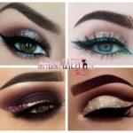 Креативный макияж с блестками