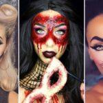 Простой мейкап на хэллоуин для девушек