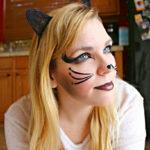 Простой макияж на хэллоуин кошка