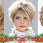 Укладка на короткие волосы на новый год
