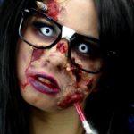 Рисунки на лице зомби