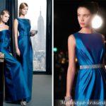 Темно синее платье на выпускной