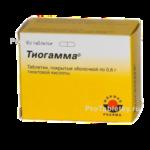Тиогамма 600 инструкция по применению таблетки отзывы